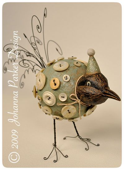 """Crowster Buttonbird"" featured in Prims Magazine, by Johanna Parker"