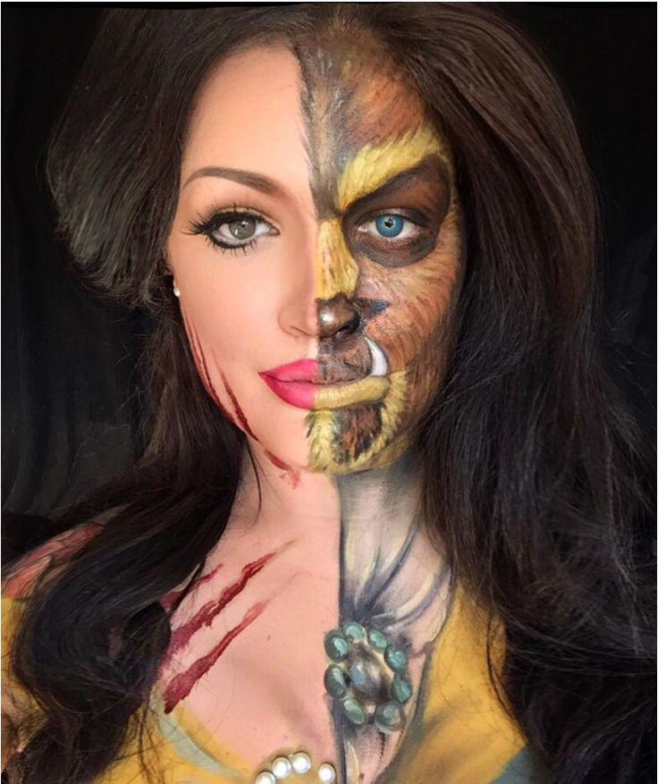 Ok, so it might be 2 or so months until Halloween but that doesn't mean we can't get excited now. We were determined to have a bomb AF outfit this year, but turns out we might not need to bother with clothes because we have discovered face and body painter Natalie (https://www.instagram.com/natzbuzz/).  Natalie regularly transforms herself into different Disney characters and trust us, these aren't your average Disney princesses.  We hope that's not real puppy blood.