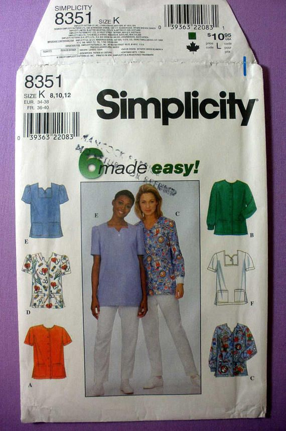23 best Scrubs Sewing Patterns images on Pinterest | Schnittmuster ...