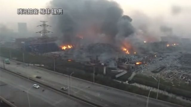 BOMBSHELL: China and America already at war: Tianjin explosion carried out by Pentagon space weapon in retaliation for Yuan currency devaluation... Military helicopters now patrolling Beijing