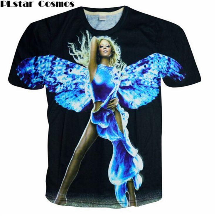 >> Click to Buy << PLstar Cosmos Angel wings t shirt woman/men print 3d t shirt Mariah Carey clothing harajuku punk t-shirt  size M-XXL camisetas #Affiliate