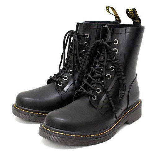 (ドクターマーチン) Dr.Martens DRENCH 8EYE BOOTS ドレンチ8ホールレインブーツ マットブラックラバー http://www.amazon.co.jp/dp/B00EUTA1L0/ref=cm_sw_r_pi_dp_4VJKub04KTNPY