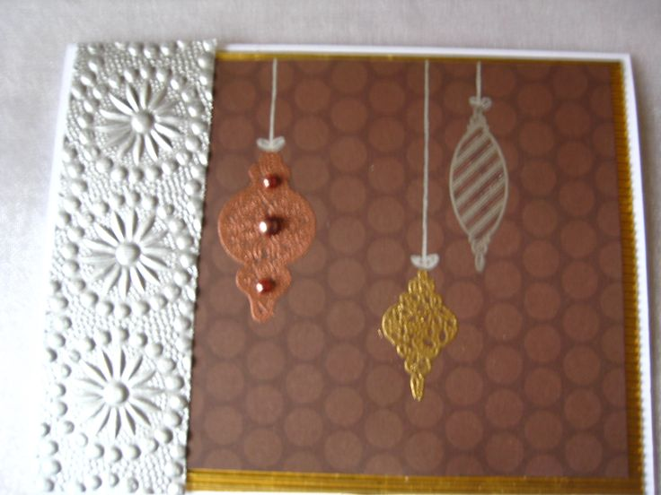 Stampin Up copper gold silver ornaments