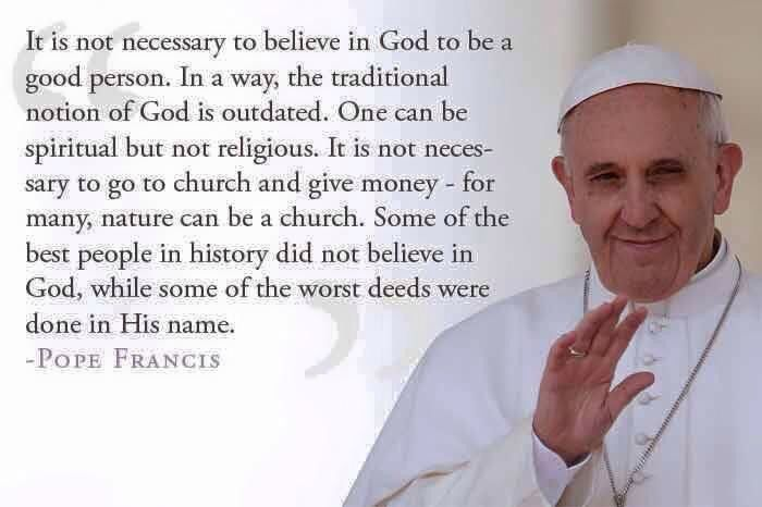 Love Pope Francis.