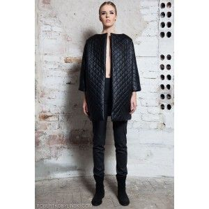Glamojuice by M.R.Y. - black quilted coat