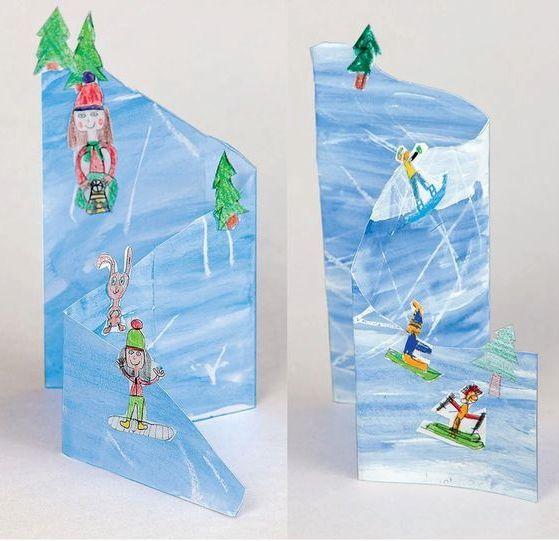 Paysage hivernal 3D