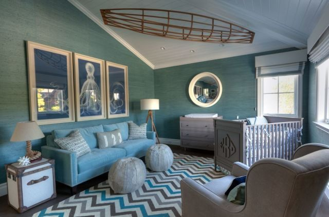 Celebrity Nurseries That Kids Can Grow Into  - ELLEDecor.com.  Love the soothing feel of the room. www.rightnowredesign.com