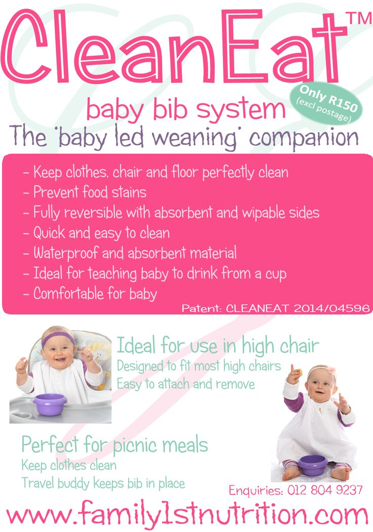 For all moms doing BABY LED WEANING, this bib system will make the cleaning much less.