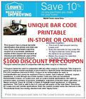 -5- LOWES 10% OFF COUPONS !- FAST SHIPPING !-EXPIRES 12/25/2014 - http://couponpinners.com/coupons/5-lowes-10-off-coupons-fast-shipping-expires-12252014/