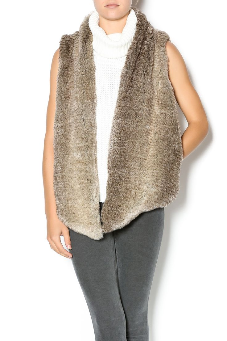 Grey fur vest to add to any look. Pair with basics for a simple chic look. Fur Vest by Tart Collections. Clothing - Jackets, Coats & Blazers - Vests Texas