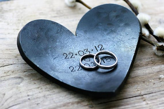 Steel Heart Ring Dish 11th Anniversary Steel Gift For Wife Etsy 6th Anniversary Gifts Iron Anniversary Gifts Anniversary Gifts