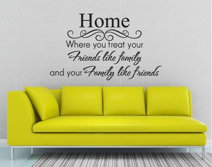 thuis citaten | zusters meisjes vrienden kwekerij vinyl muur stickers stickers decors ...