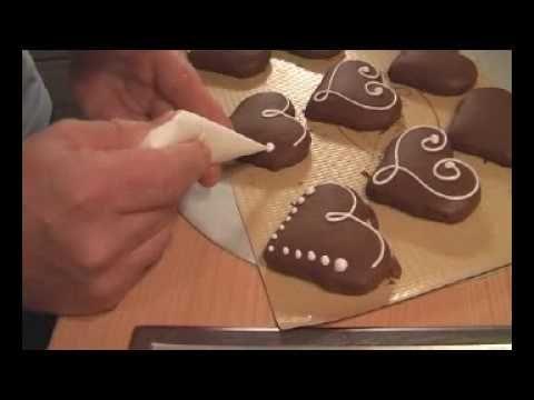 Schoko-Lebkuchen-Herzen