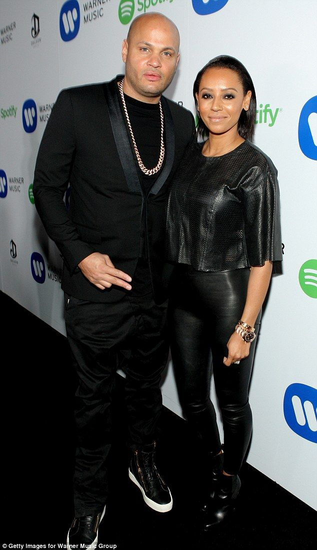 Matching: Stephen Belafonte and Mel B arrived at the Warner Music Group annual Grammys cel...