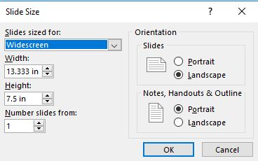 How to change slide size in PowerPoint 2013, 2016