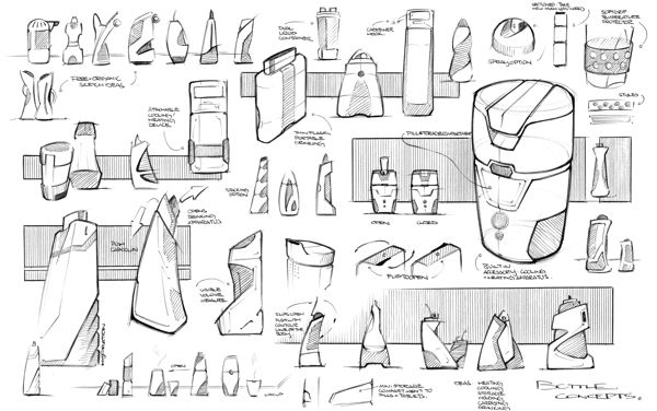 IDEATION: Sketching/Markering by Tai Geng, via Behance.