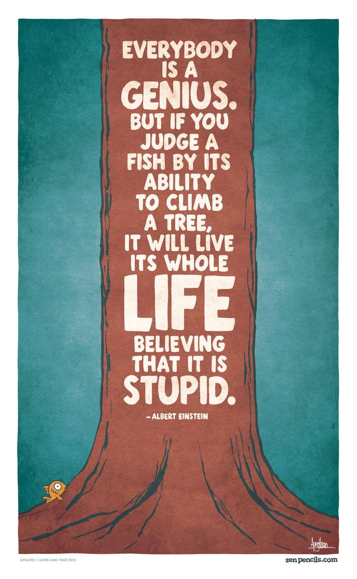 A. EinsteinGenius, Judges, Fish, Trees, Albert Einstein Quotes, Albert Einstein, Favorite Quotes, Education, Inspiration Quotes