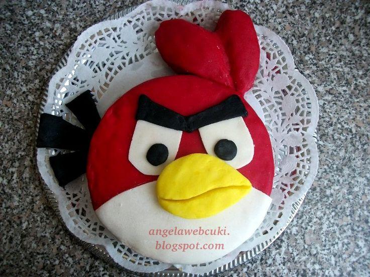Mérges madárak torta http://angelawebcuki.blogspot.hu/2011/10/merges-madar-torta.html