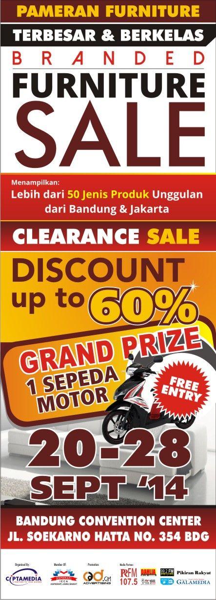 Branded Furniture Sale 20-28 September 2014 At Bandung Convention Center  Jl. Soekarno hatta 354 Bandung
