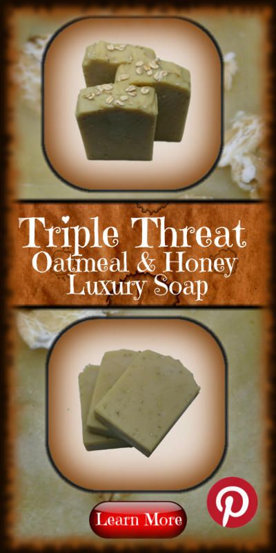 Triple Oatmeal and Honey soap is just what you need to combat those tough spots. The Colloidal Oatmeal, Ground Oats and whole oats join together to become a powerful exfoliating soap, surrounded in the smooth creamy lather that a high Shea Butter bar creates.  Scented with a hint of the classic Oatmeal and Honey, this soap has been a long standing fan favorite.  #soap #oatmeal #exfoliate #Sheabutter #skincare