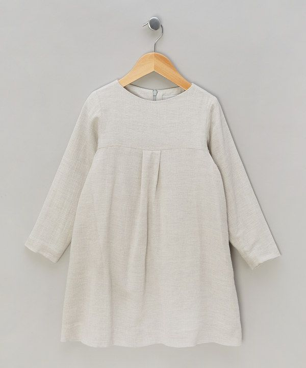 Take a look at this Grey Winter Smock Dress on zulily today!