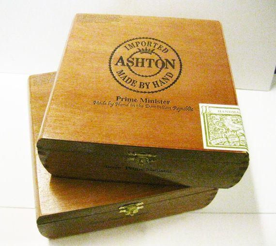Ashton 2 Wooden Cigar Boxes All Cedar Wood by kathleendaughan