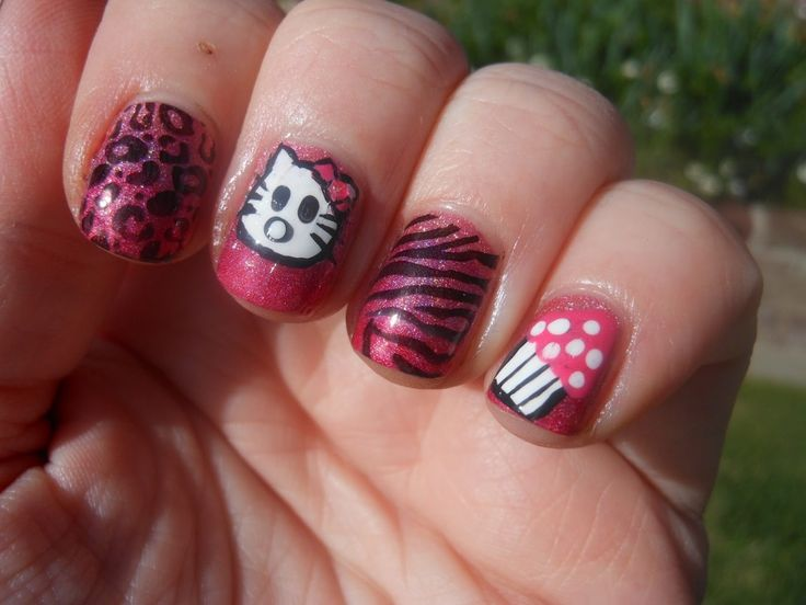 49 best nail designs images on pinterest nails design hello 5 cute hello kitty nail designs for girls1 prinsesfo Images