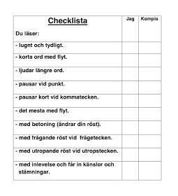 Läs- och skrivundervisning : Checklistor att hämta!