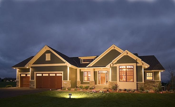 Empty nester or room to grow 14308rk craftsman for Best empty nester house plans