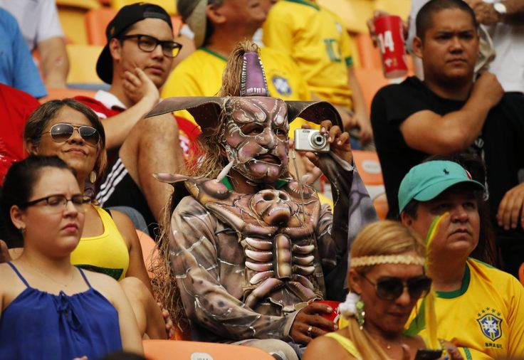 Brazil fan - no idea what the outfit is about!!