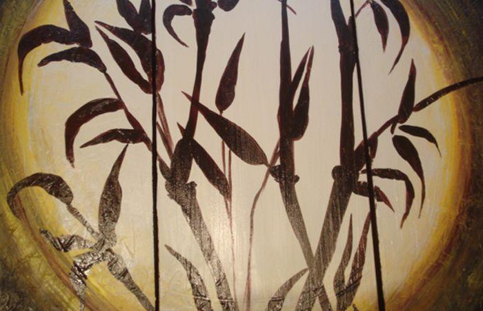 Detalle cuadro oriental bambu - Cuadros abstractos relieve ...