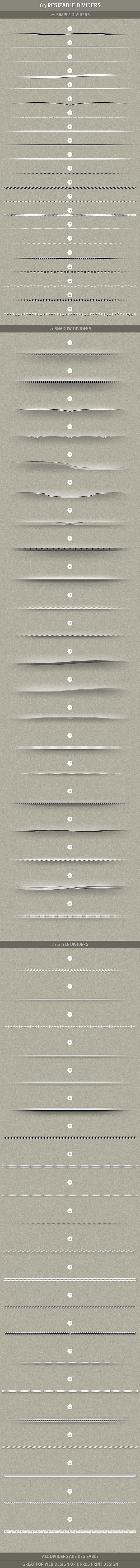 Dividers for web design. Some good, some bad, some thin, some fat.