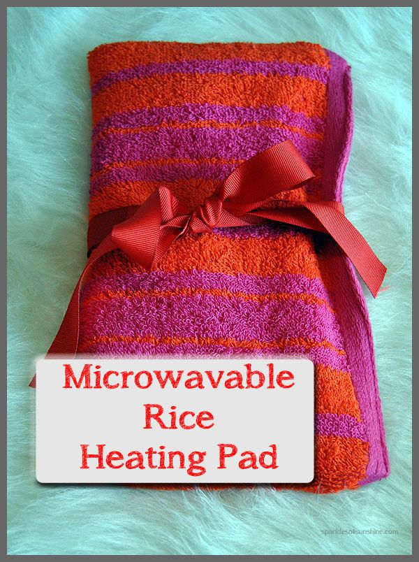 Sparkles of Sunshine DIY Microwavable Rice Heating Pad - Shared at the #HomeMatters Linky Party