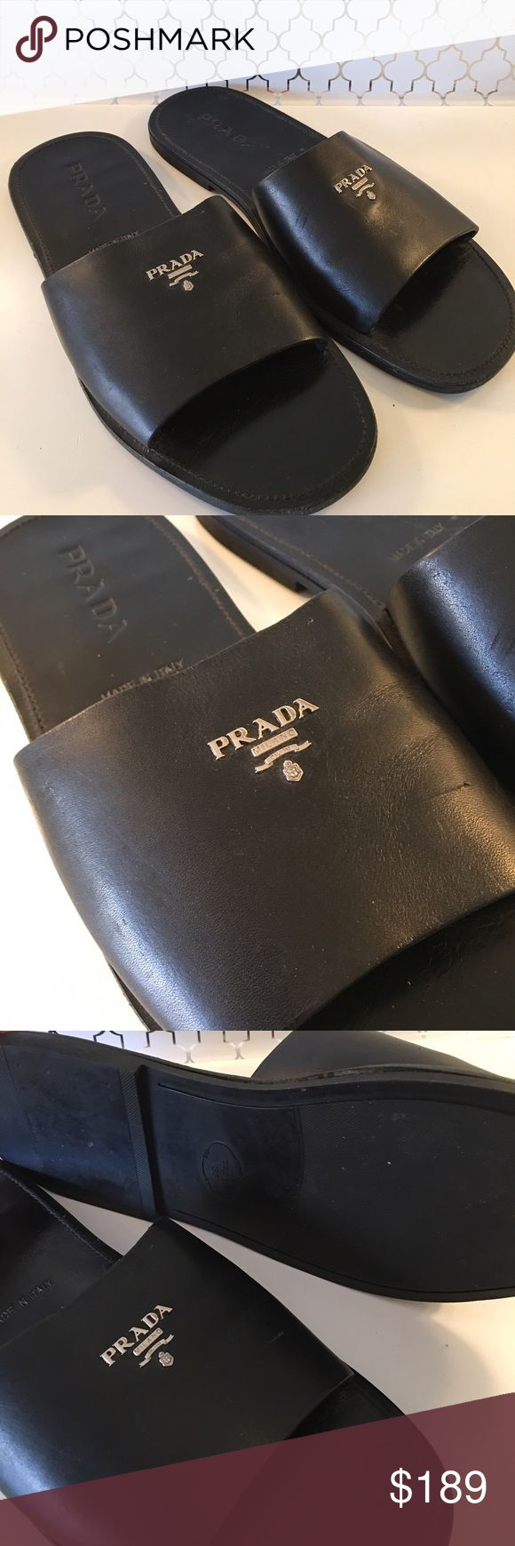 🎁SALE! PRADA MENS SANDALS 💯 AUTHENTIC PRADA MENS SANDALS 100% AUTHENTIC. TRUE HIGH END ITALIAN STYLE IN THESE PRADA SANDALS. USED BUT GOOD CONDITION. THEY ARE A SIZE 9 Prada Shoes Sandals & Flip-Flops