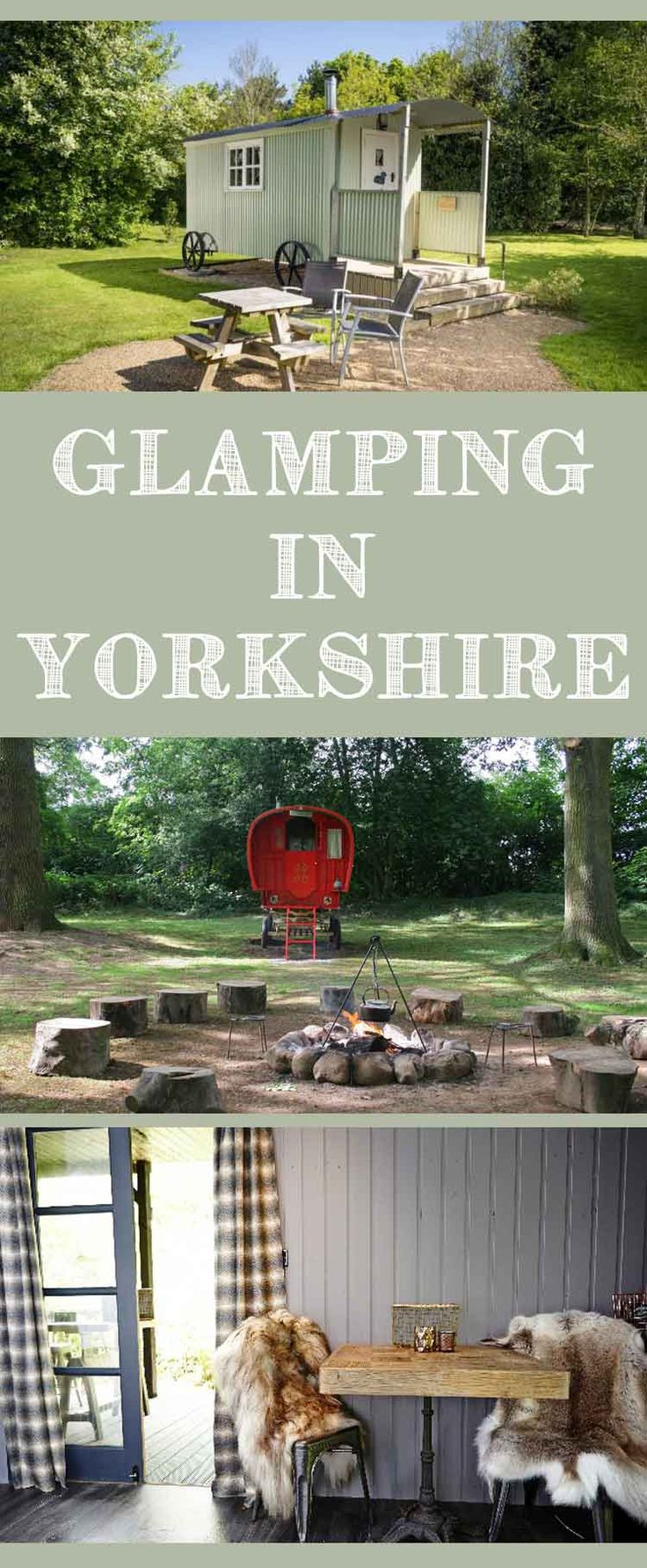 Glamping Yorkshire.  From luxury glamping with hot tubs to more rustic yurt holidays. So many places to treat yourself to some Yorkshire glamping!