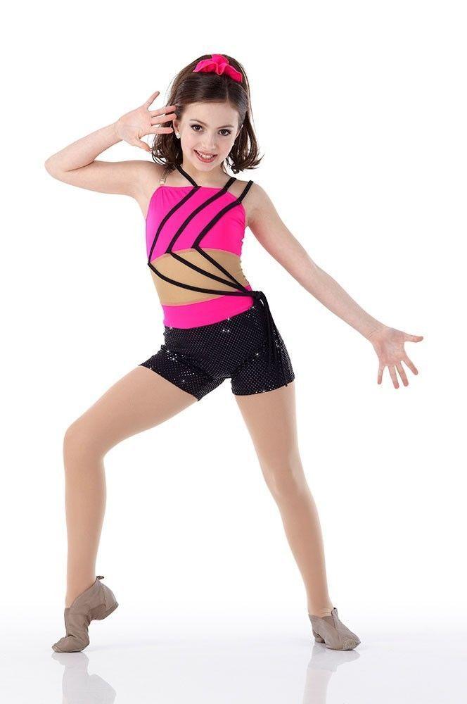 Jazzed Dance Costume Mesh Middle Unitard Acro Tap