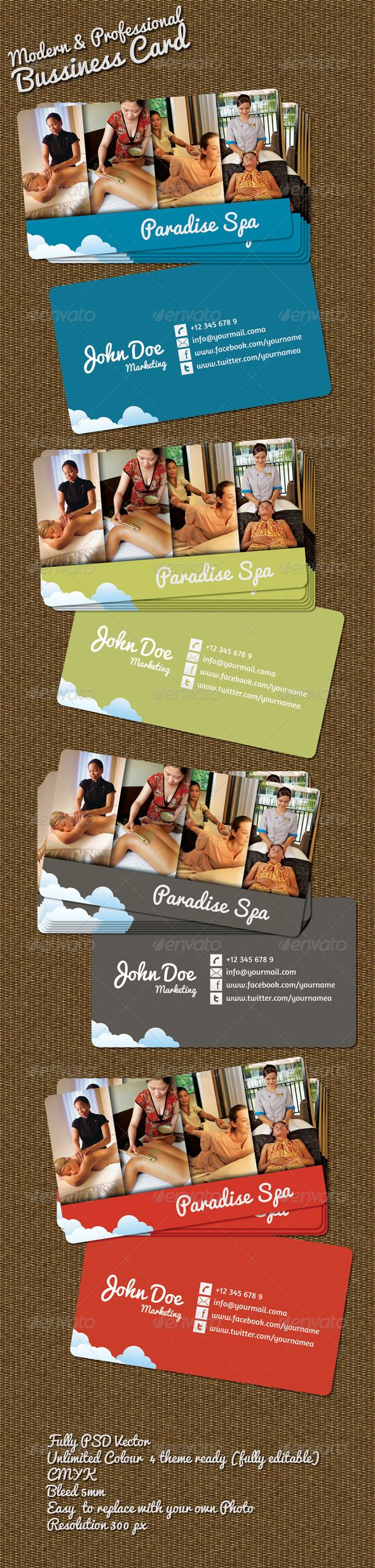 Beauty Spa Bussiness Card – GraphicRiver ★ WOW ! Click to Download Free