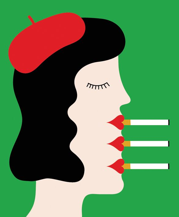 """""""Why Smokers Still Smoke"""", an illustration for The New York Times Sunday Review by Olimpia Zagnoli"""