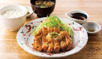 鶏もも一枚揚げ定食(おろしぽん酢)