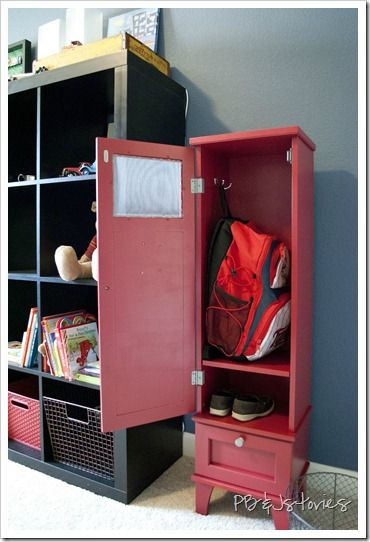 Home Design And Interior Design Gallery Of Nice DIY Kids Wooden Locker  Storage 3 Of These By The Door!