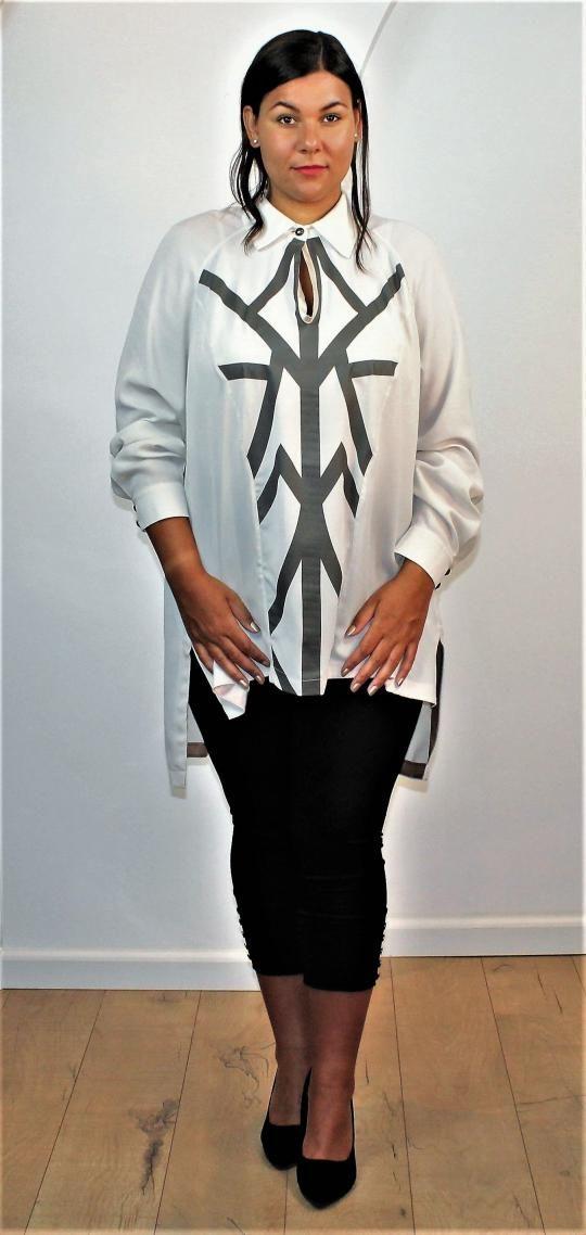 Griekse Top Mat. Fashion | ModeXXL  Grote maten Mode   www.Modexxl.nl   Plus Size Fashion   Große größen