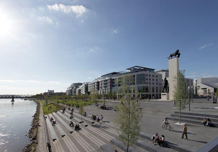 Slovakia, Bratislava, Eurovea, Danube River, Public Space