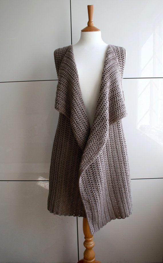 Crochet Pattern, INSTANT DOWNLOAD crochet wrap pattern, vest crochet pattern…