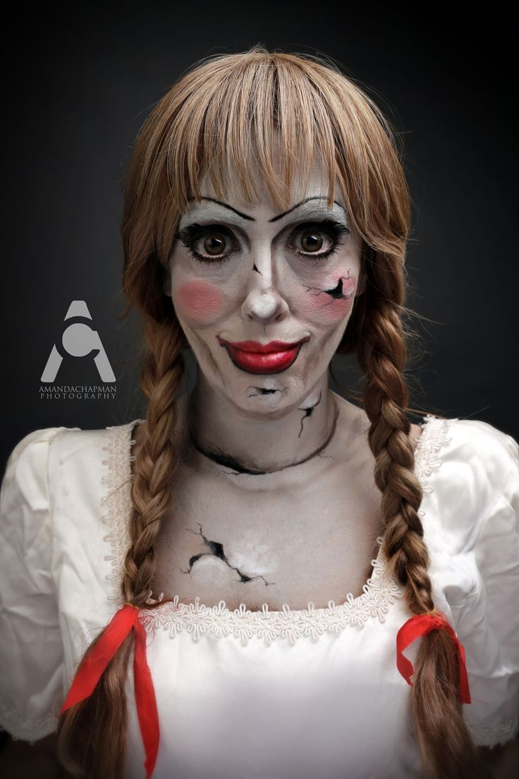 annabelle 31 days of halloween makeup by amanda chapman. Black Bedroom Furniture Sets. Home Design Ideas