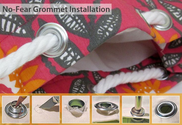 How to Install Metal Grommets | Sew4Home