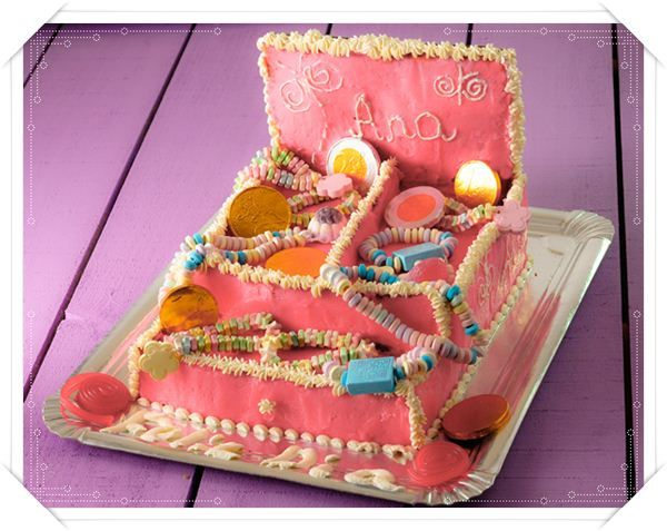 Jjewelry box cake for little princess.Cool!