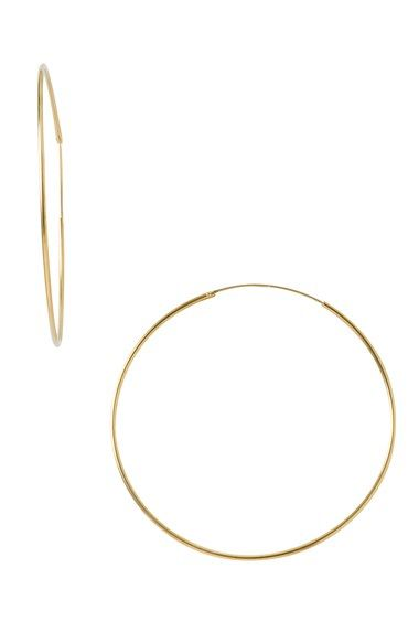 Argento Vivo Endless Extra Large Hoop Earrings - finally a paper thin gold hoop!