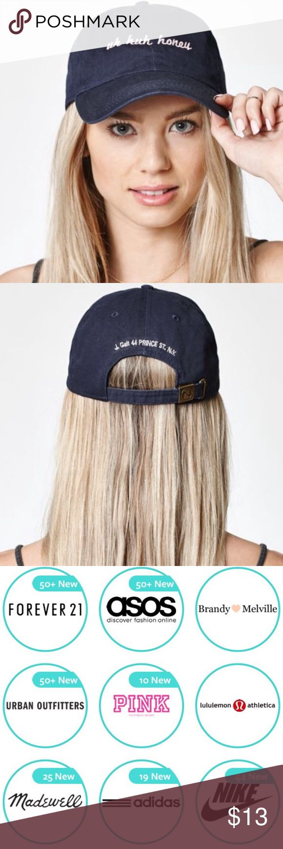 Brandy Melville Uh Huh Honey Hat $13 Brandy Melville uh huh honey cap with the code S5UT :) download the Dote Shopping app and get $5 off your purchase + FREE shipping! Enter the promo code at checkout and discount will be taken off!! You can apply the $5 to many other brands! Comment if you're having a hard time and I'll invite you. Let me know what you got, Happy Shopping!! :) Brandy Melville Accessories Hats