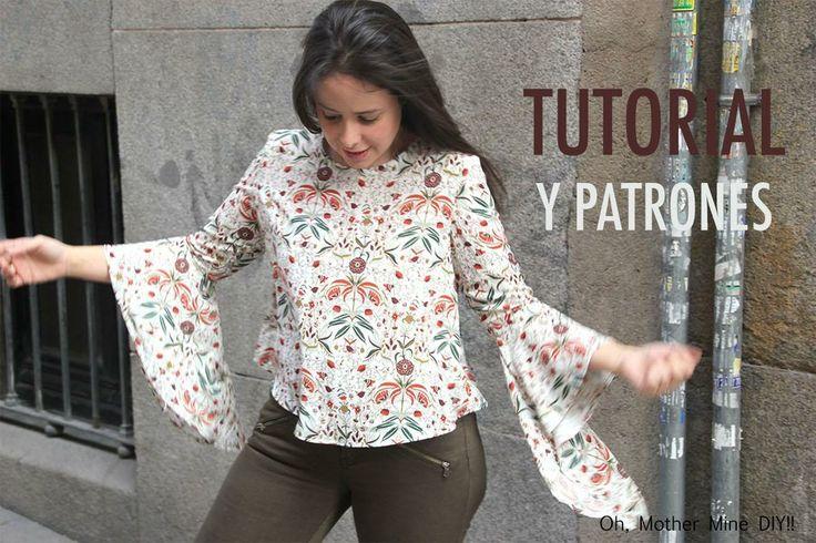 Blusa de mujer con manga japonesa, ¡apunta el tutorial!