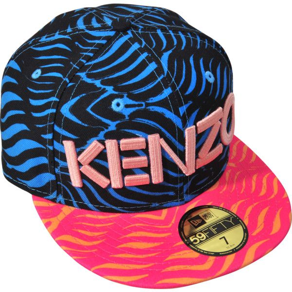 Kenzo Kenzo X New Era Cap ($55) ❤ liked on Polyvore featuring accessories, hats, kenzo cap, pink hat, pink cap, polyester hat and kenzo hat